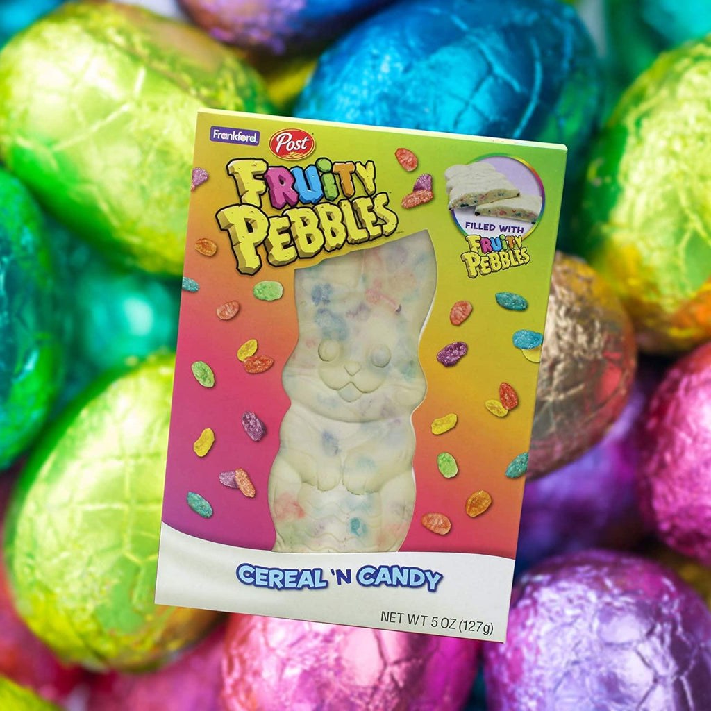 Fruity Pebbles Chocolate Bunny