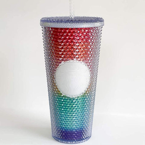 Studded Pride Rainbow Tumbler - It's Okay To Be Weird