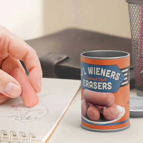 Cocktail Wiener Erasers - It's Okay To Be Weird