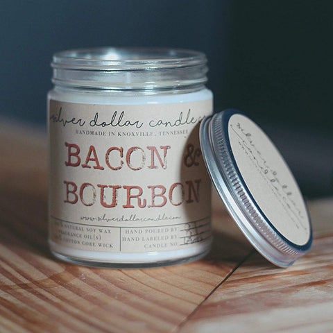 Bacon & Bourbon Man Candle