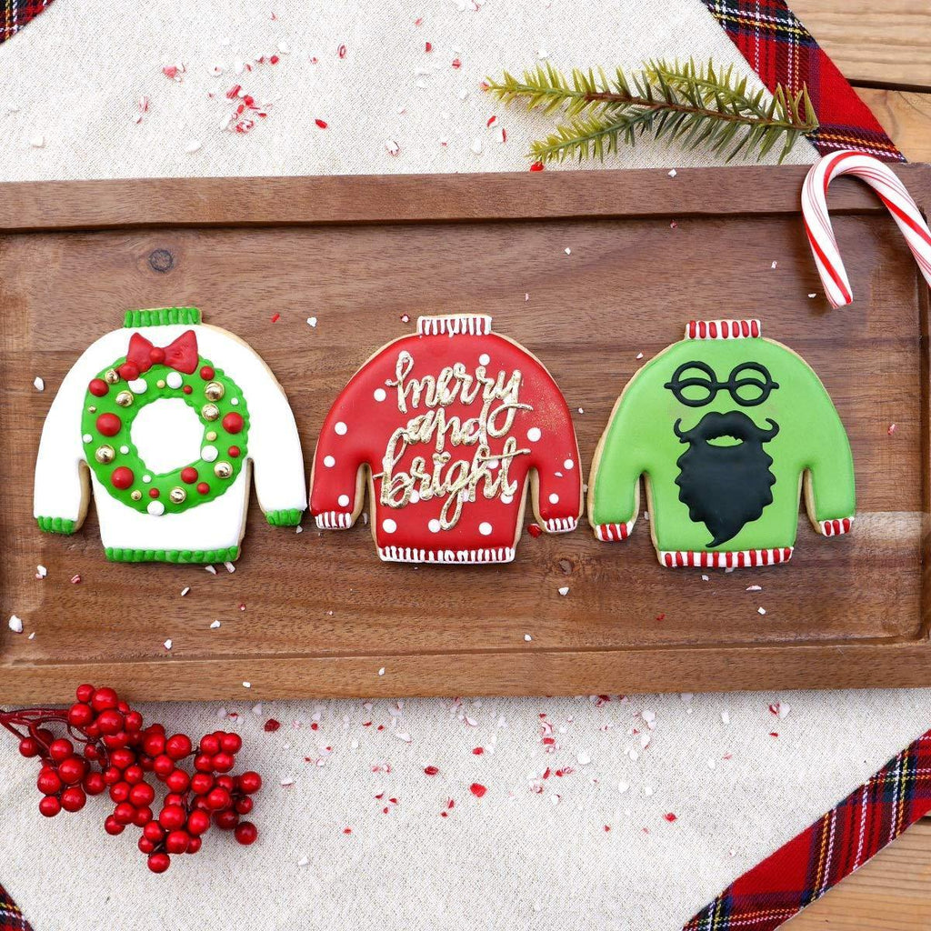 Ugly Christmas Sweater Cookie Cutter Set - It's Okay To Be Weird