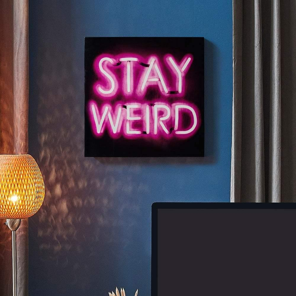 Stay Weird Neon Wall Art