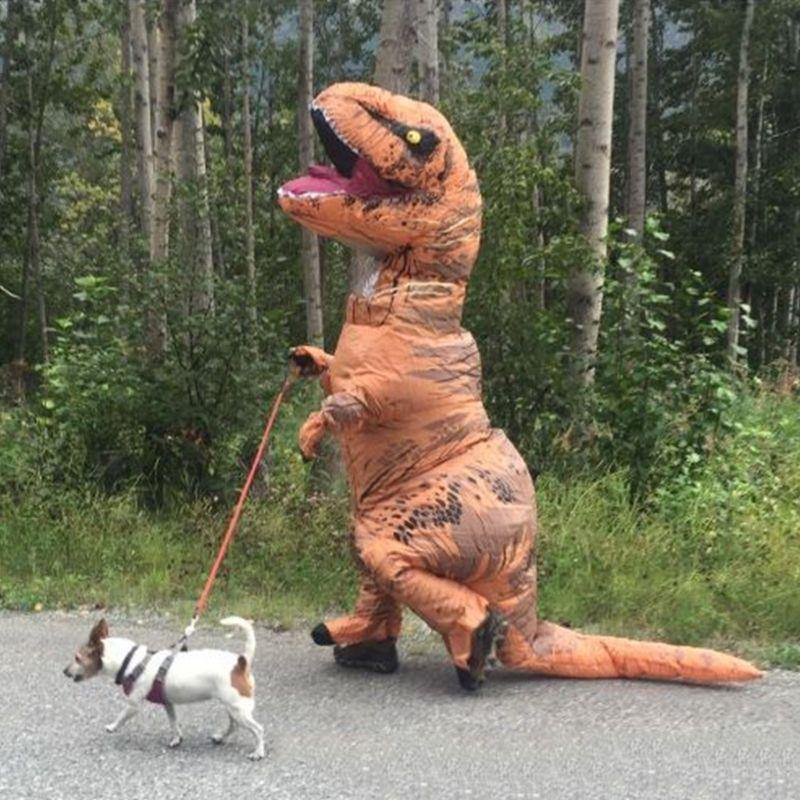 Inflatable Dinosaur Costume - It's Okay To Be Weird