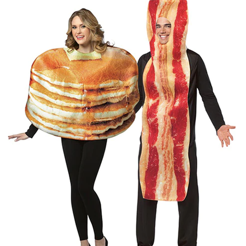 Pancake and Bacon Couples Costume