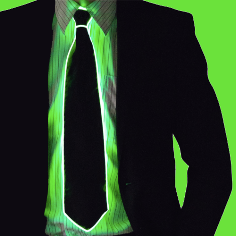 Men's Glowing Tie - It's Okay To Be Weird