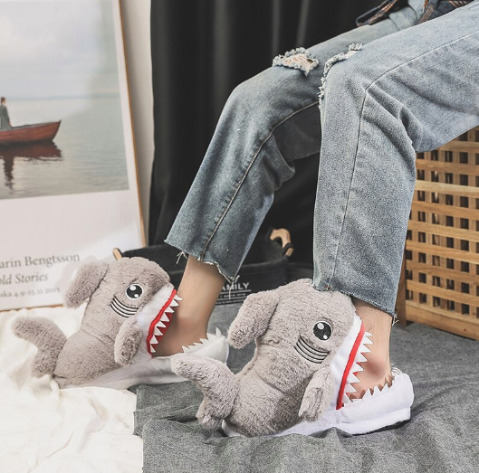 Hungry Sharks Slippers - It's Okay To Be Weird
