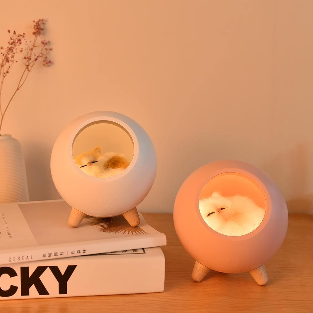 Sleeping Cat Night Light - It's Okay To Be Weird