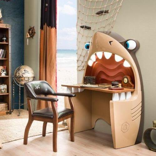 Pirate Shark Desk - It's Okay To Be Weird
