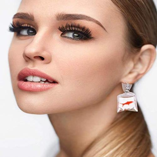 Goldfish Water Bag Earrings - It's Okay To Be Weird