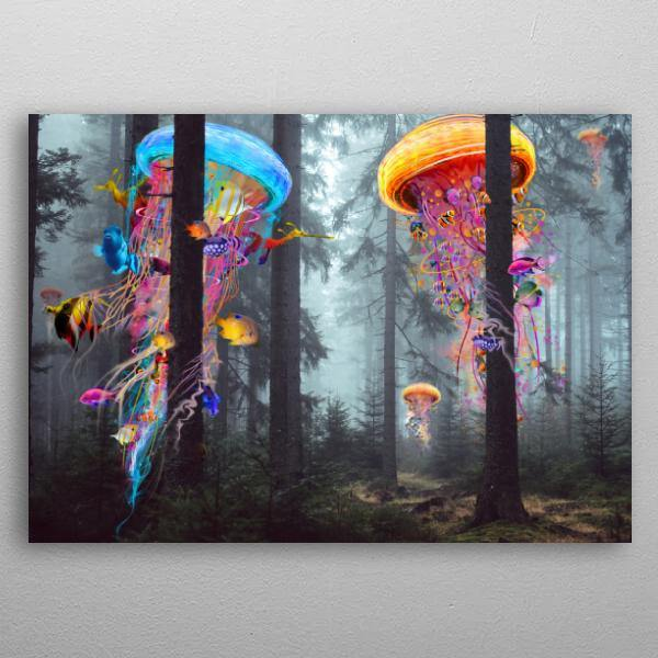Jellyfish Forest Artwork - It's Okay To Be Weird