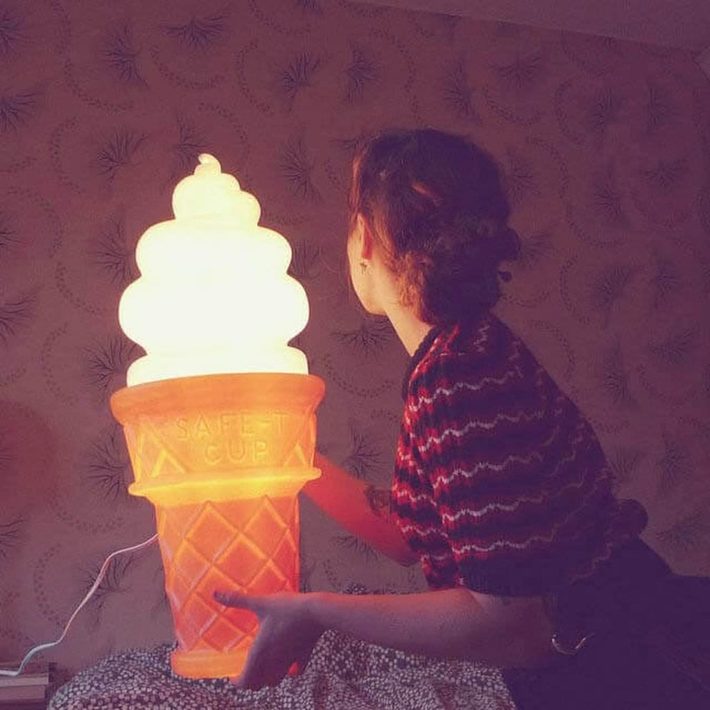 Ice Cream Cone Lamp - It's Okay To Be Weird