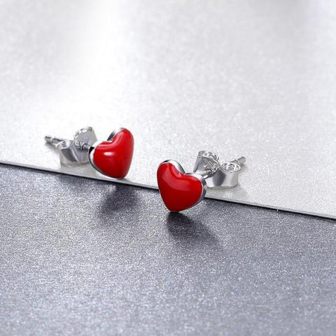 Heart Stud Earrings - It's Okay To Be Weird