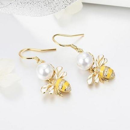 Bee Drop Earrings - It's Okay To Be Weird