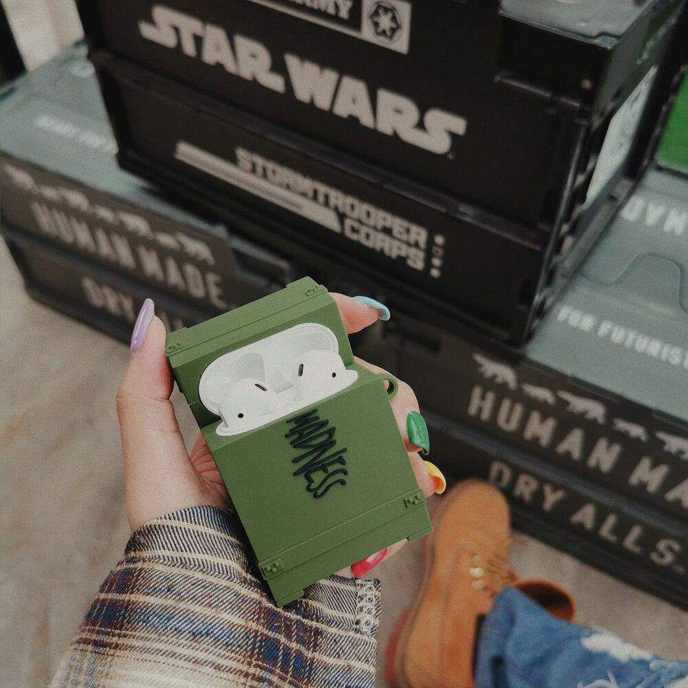 Military Box Airpods Case - It's Okay To Be Weird