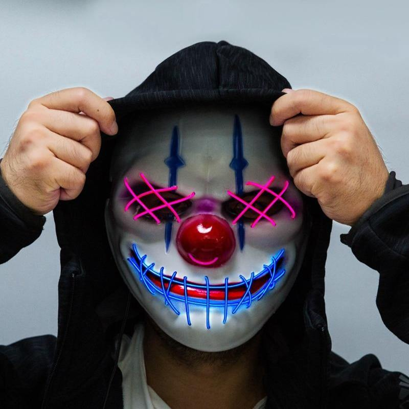 Led Clown Mask - It's Okay To Be Weird