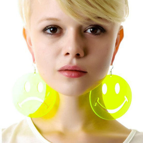 Happy Unhappy Face Earrings - It's Okay To Be Weird