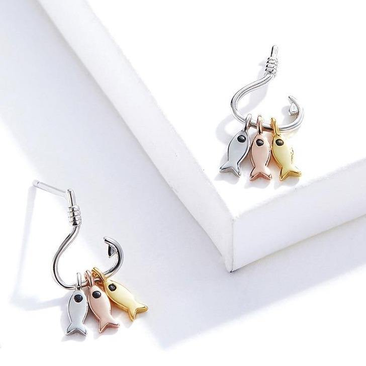 Off The Hook Fish Earrings - It's Okay To Be Weird