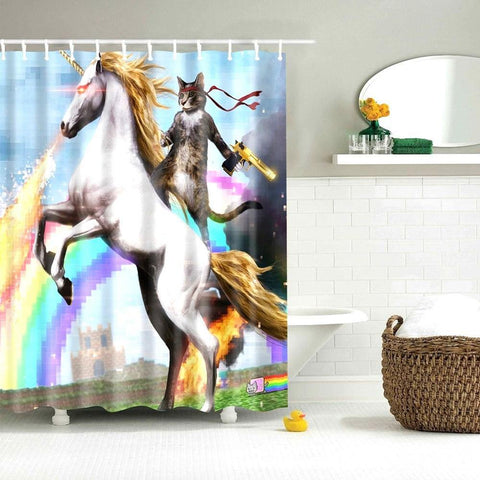 Tough Animal Shower Curtains - It's Okay To Be Weird