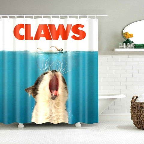 Claws Cat Shower Curtain - It's Okay To Be Weird