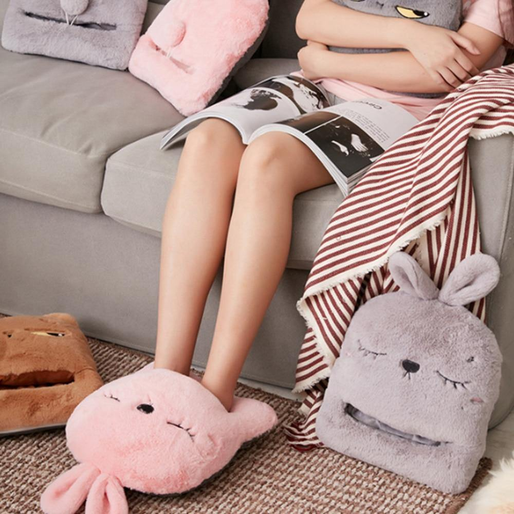 Animal Electric Heating Slippers