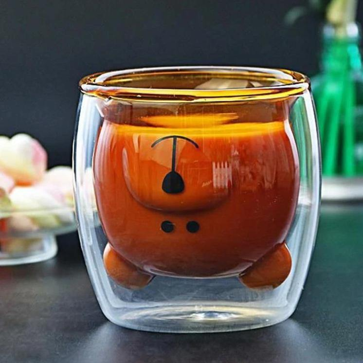Upside Down Bear Glass - It's Okay To Be Weird