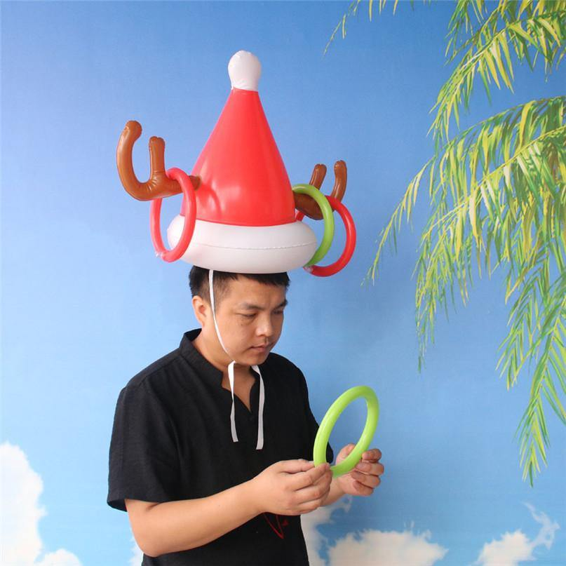 Inflatable Reindeer Hat Ring Toss Game - It's Okay To Be Weird
