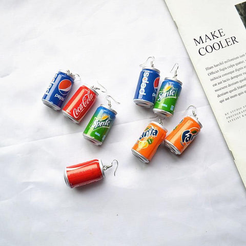 Soda Can Drop Earrings - It's Okay To Be Weird