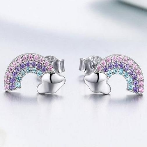 Somewhere Over The Rainbow Stud Earrings - It's Okay To Be Weird