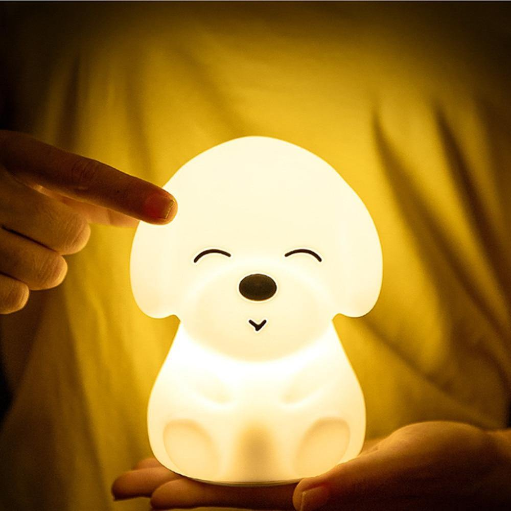 Puppy Touch Sensor LED Night Light - It's Okay To Be Weird