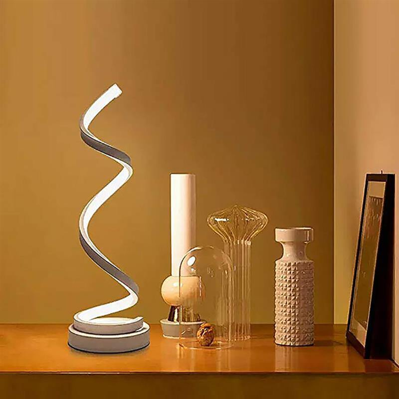 LED Spiral Table Lamp - It's Okay To Be Weird