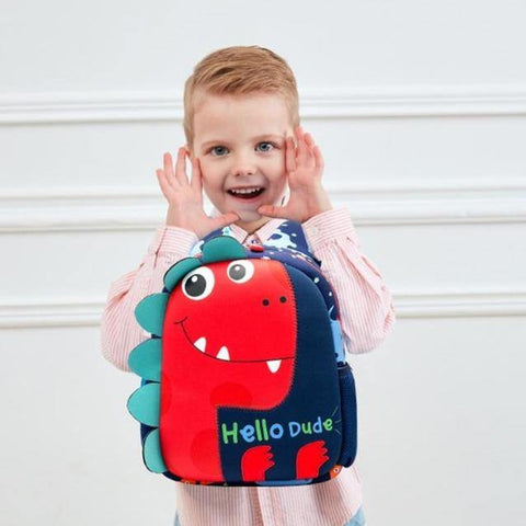 Hello Dude Dinosaur Backpack - It's Okay To Be Weird