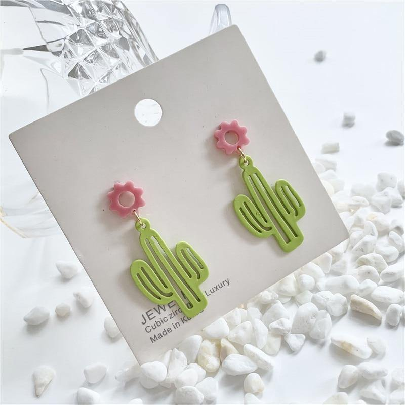 Cactus Earrings - It's Okay To Be Weird