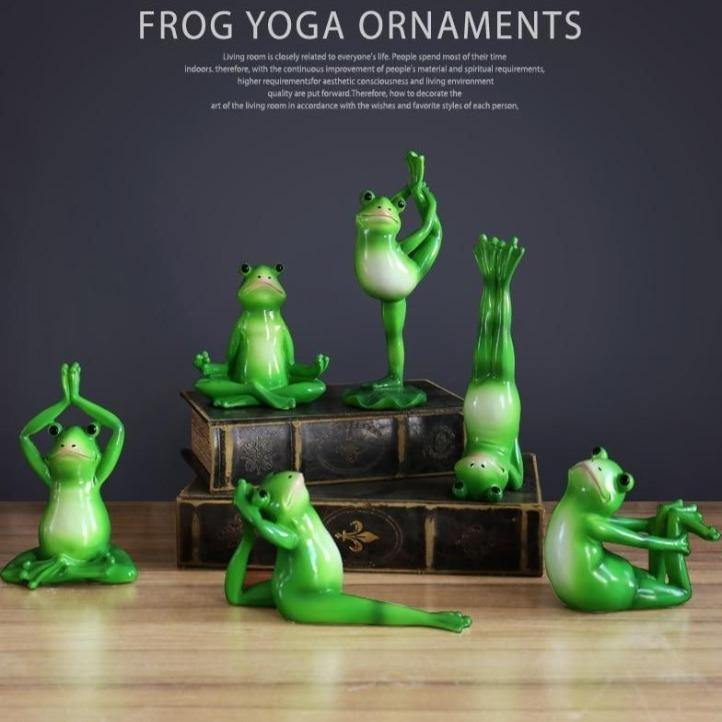 Yoga Frog Figurines - It's Okay To Be Weird