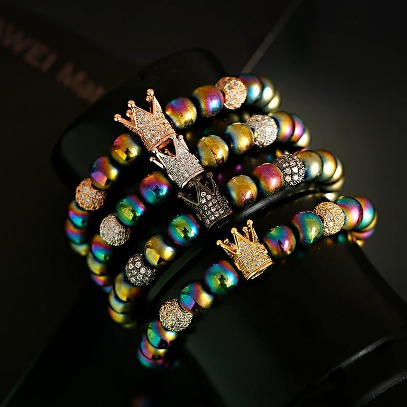 Luxury Colorful Crown Bracelet