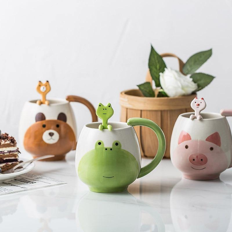 Hand-painted Animal Mugs