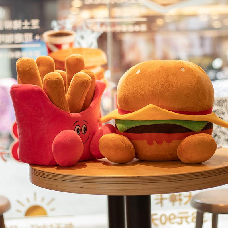 Hamburger & French Fries Plush Toy - It's Okay To Be Weird