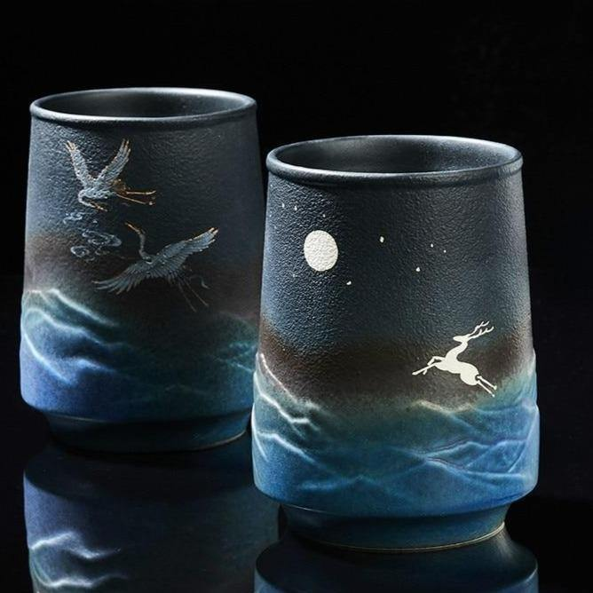 Starry Night Couple Cups