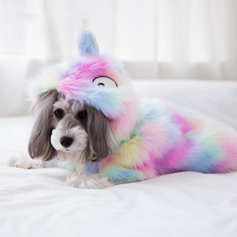 Rainbow Plush Unicorn Coat