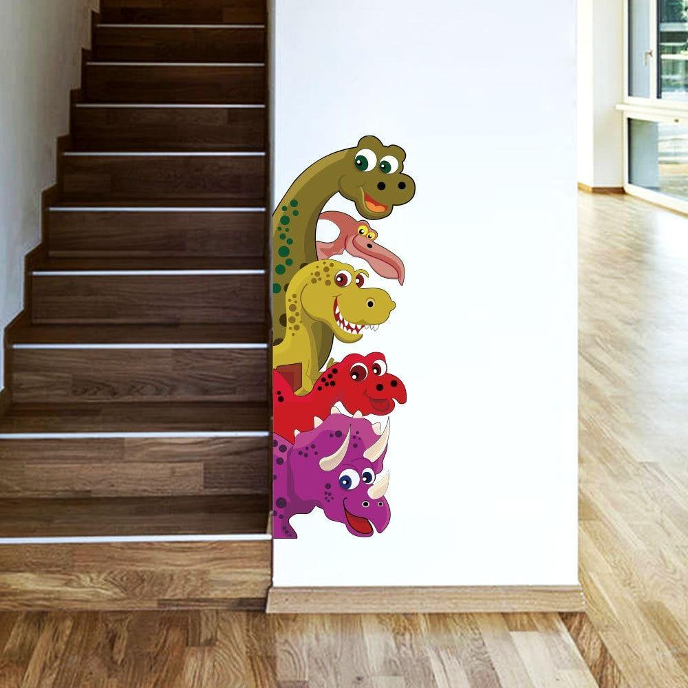 Peeking Dinosaur Wall Decals
