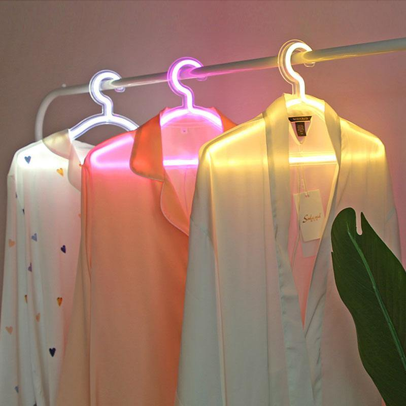 LED Neon Light Up Hanger