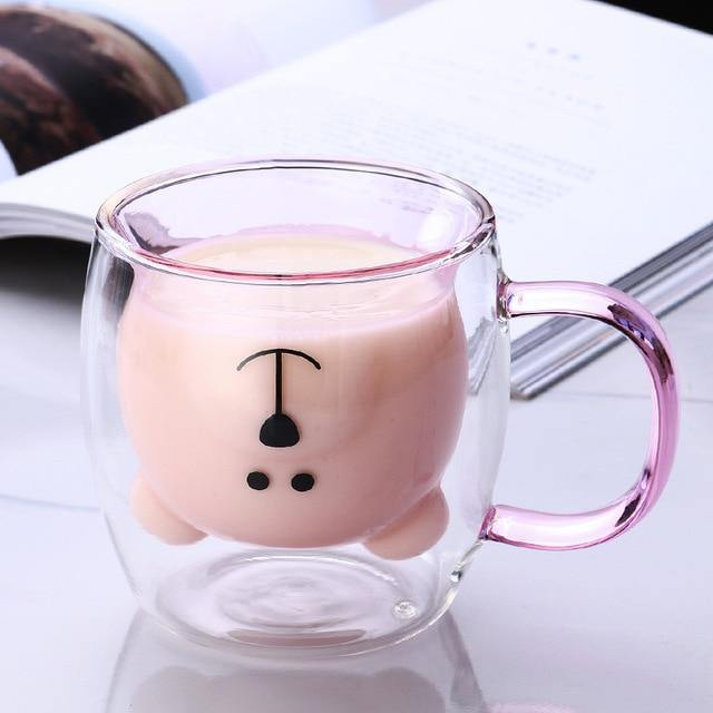 Upside Down Double Layer Bear Mug