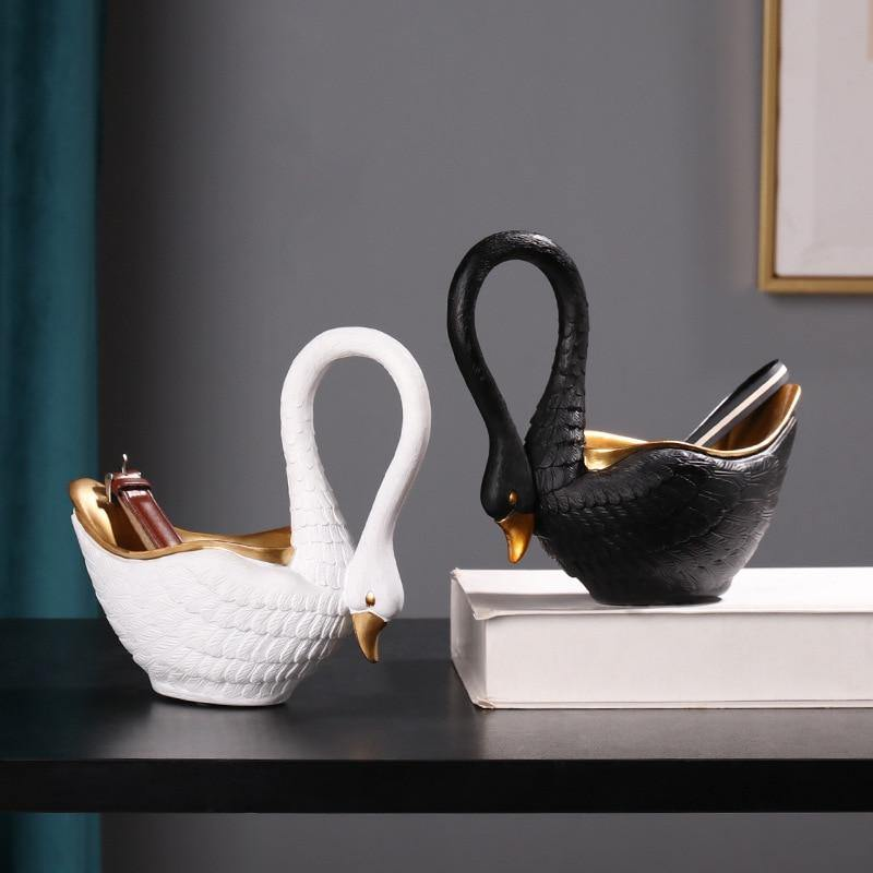 Swan Small Storage Statues