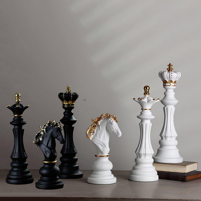 Large Chess Piece Figurines