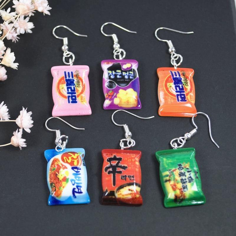 Instant Noodles Earrings