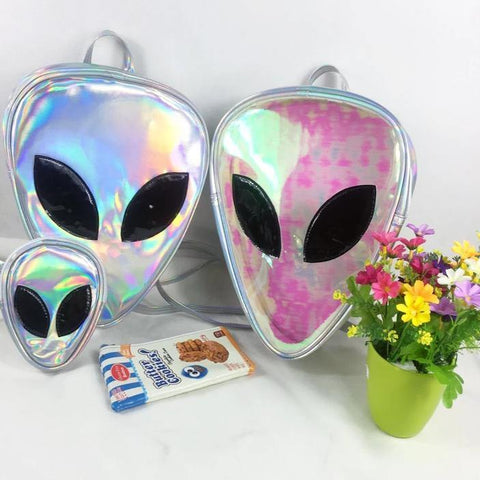 3D Alien Face Unisex Backpack - It's Okay To Be Weird