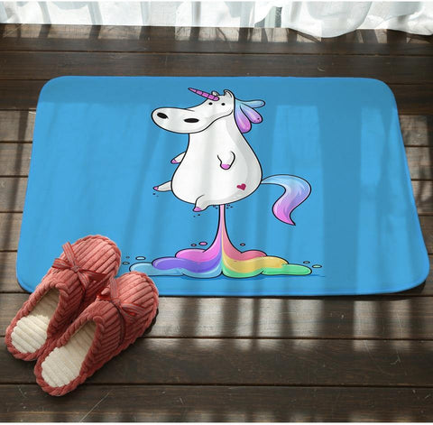 Fat Unicorn Floor Mat - It's Okay To Be Weird
