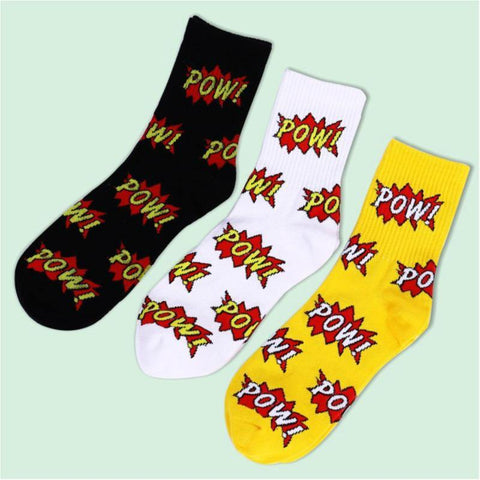 Pow Comic Mens Socks - It's Okay To Be Weird