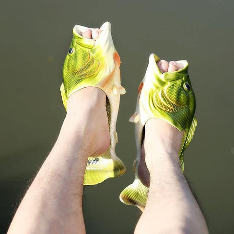 Fish Slippers - It's Okay To Be Weird