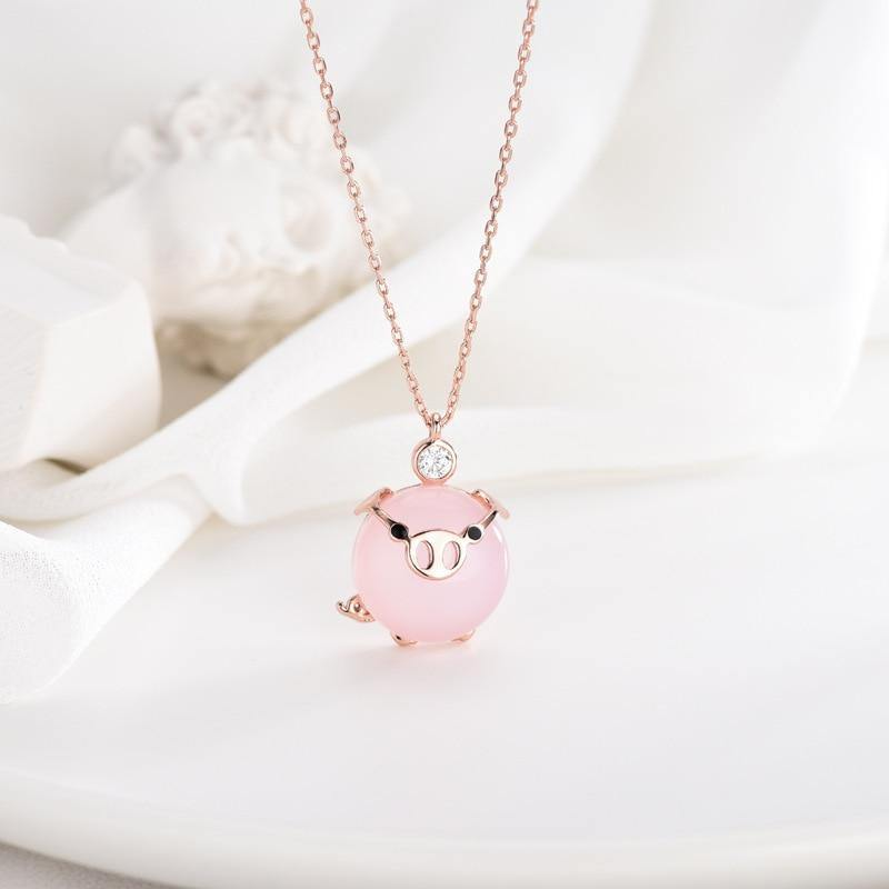 Pig Pendant Necklace - It's Okay To Be Weird