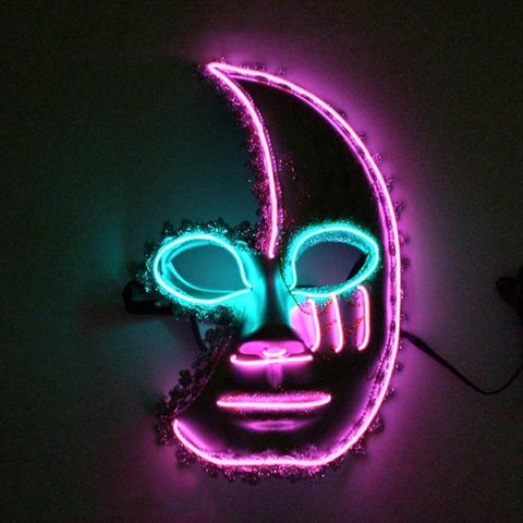 LED Glowing Half Moon Face Mask - It's Okay To Be Weird